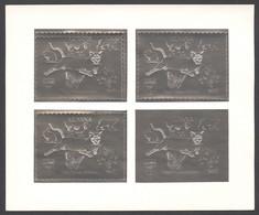 Guyana, 1992, Dog, Bear, Rabbit, Cougar, Butterfly, Dinosaur, Genova, Silver, MNH PROOF Sheetlet, Michel 3979 - Guyana (1966-...)