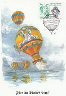 Carte-Maximum FRANCE 2013 - N° Y&T 4809 (FETE DU TIMBRE ET DE L'AIR) Obl.Spe. Ill. 1er Jour GUIDEL 12/10/2013 (Ed.FFAP) - 2010-...