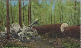 état  Unis :   Modern Logging Tractor At Work , Arbre, Forêt - Unclassified