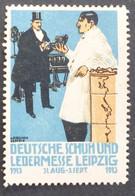 Werbemarke Cinderella Poster Stamp  Ledermesse Leipzig    #Werbe2014 - Erinnofilia