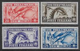 Italia Italy 1936 Regno Fiera Di Milano Sa N.394-397 Completa Nuova MH * - Ongebruikt