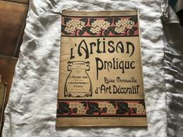 L'artisan Pratique Journal Mensuel De Arts Décoratifs 1921 Gravure Et Dessins Métal Cuir Cristallerie Cornes Pirot Gravu - Tijdschriften - Voor 1900
