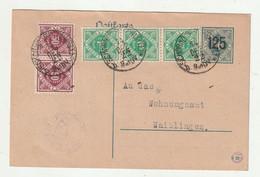"""Deutsches Reich - 1922 - Dienstpostkarte Fuer Wuerttemberg Mi. DP 13/04 Ex """"SCHORNDORF"""", Inhalt ! (2223) - Officials"""