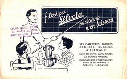 """CAF S/14/04/ Buvard Cafetière """"Sélecta""""  (Format 225 X 140 Mm)  (N= 1) Ce Buvard Est Rose - Coffee & Tea"""