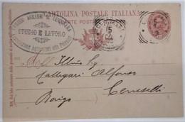 LENDINARA - ROVIGO - CARTOLINA POSTALE DA 10 CENT. DEL 1901 - TIMBRO DEL COMIZIO AGRARIO STUDIO E LAVORO /ALTO POLESINE - Rovigo