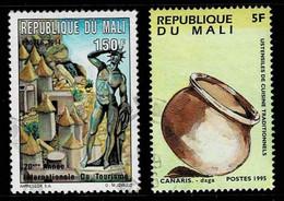 Mali 1994/5,Michel# 1325, 1422 O  International Tourist Year/ Cooking Utensils - Mali (1959-...)