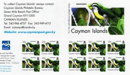 Cayman Islands - 2006 - Birds - Bananaquit - Mint Self-adhesive Definitive Stamp Booklet - Iles Caïmans