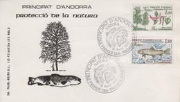 Enveloppe  FDC  1er  Jour   ANDORRE  ANDORRA   Protection   De  La   Nature   1983 - FDC