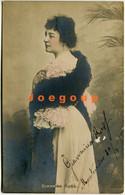 Colored Postcard Photo Signed Italian Artist Soprano Opera Singer Giannina Russ 1905 Circulated Montevideo Uruguay - Opera