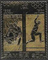 Zambia Mnh ** 1984 Olympics Gold Stamp - Zambia (1965-...)