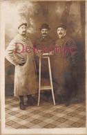 Carte Photo Militaria : Soldat Poilus Circa 1915 - Uniforme Avec Croix De Guerre - Famille Sauvage à La Harengère (27) - Characters