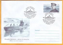 2008 Moldova Moldavie  95 Years.  Marinescu  Marinesco Marinecko  Submarine. Envelope. - Moldova