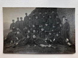 Photo Carte Group Soldats Belge Belgie Uniform - Weltkrieg 1914-18