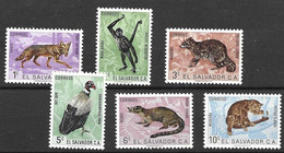 El Salvador Mnh ** Complete Set 7 Euros 1963 Monkey Bird - El Salvador