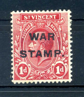 1916/17 ST. VINCENT N.99 SET * War Stamp - St.Vincent (...-1979)