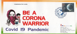 India  2020  Covid 19 Pandemic Gandhi  Salute To Corona Warriors  Special Cover  # 32741  D  Inde Indien - Enfermedades