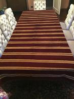 TAPPETO COPRI TAVOLO / COPRI LETTO 280 X 160 Righe Velluto E Seta  VINTAGE - Rugs, Carpets & Tapestry