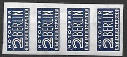 1948 Notopfer Berlin Michel 1Z Mnh ** IMPERF Rare Watermark Michel 3X (Waves/Wellen) 4*60 Euros= 240 Euros+ 10% - American/British Zone