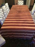 TAPPETO COPRI TAVOLO / COPRI LETTO 300 X 160 Righe Velluto E Seta  VINTAGE - Rugs, Carpets & Tapestry