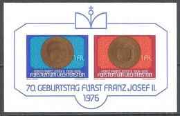 LIECHTENSTEIN 1976 Mint Block MNH(**) - Blocchi & Fogli