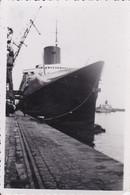 """Photographie De Particulier Seine Maritime Le Havre  Paquebot A Quai """"  Le Normandie  """"  Réf 4415 - Barche"""