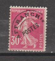 Préo Semeuse Grasse 30c  Rose - 1893-1947