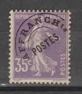 Préo Semeuse Grasse 35c Violet - 1893-1947