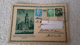 Postkarte Stempel Münster Rotterdam Holland 1933 Garnißonkirche  Deutsches Reich Gelaufen - 1939-45