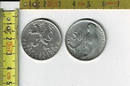 210417 - M 1059 - CESKOSLOVENSKA 50 KORUN  1944 -1947 -  ARGENT SILVER - Tschechoslowakei