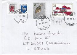 LATVIA 2014 Cover Sent To Lithuania Druskininkai #27143 - Lettland