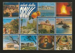 AD7413 Saluti Dalla Sicilia - Vedutine - Andere Steden