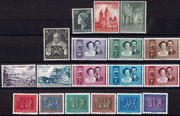 Luxembourg, Luxemburg 1953 Année Complête 6 Séries Neuf MNH** Val. Cat. 111€ - Unused Stamps