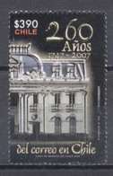 Chile, 2007, 260 Años De  Correo De Chile, - Chile