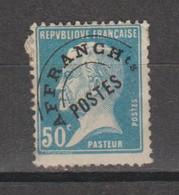 Préo Pasteur 50c Bleu - 1893-1947