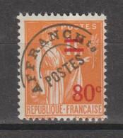 Préo Paix 80c/1f Orange N°74 - 1893-1947