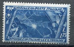 Regno (1932) - Decennale Marcia Su Roma - 1,25 Lire ** - Ungebraucht