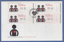 Portugal 2005 ATM Kardiologie Monétel Mi.-Nr. 49 Satz 30-48-57-74 Auf FDC - Vignette Di Affrancatura (ATM/Frama)