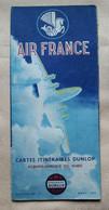 """Aviation""""AIR FRANCE""""carte Itinéraire Dunlop""""ligne Europe Afrique Du Nord""""CALBERSON""""SUPER CONSTELLATION""""DUBONNET""""1955 - Non Classés"""