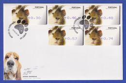 Portugal 2005 ATM Hamster Amiel Mi-Nr 51 Satz 5 Werte 30-46-48-57-74 Auf FDC - Vignette Di Affrancatura (ATM/Frama)
