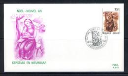 BE   FDC  2269   ---  Noël Et Nouvel An  --  Obl.  Soignies - 1981-90