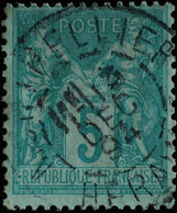 -Sage N°75 Type II  Ob  ( CAD  ) MONTPELLIER 1894. - 1876-1898 Sage (Type II)