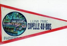 ANCIEN FANION TOURISTIQUE BELGIQUE / CAPELLE - AU -BOIS / LUNA PARC /  (VAANTJE - WIMPEL - PENNANT) - Recordatorios
