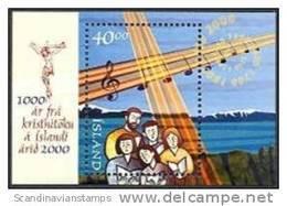 IJsland 2000 Blok 1000 Jaar Kristna  PF-MNH - Ungebraucht