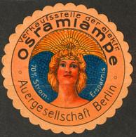 OSRAM Electricity Light Bulb Lamp Advertising - GERMANY Berlin - Close LABEL CINDERELLA VIGNETTE - Used - Elettricità