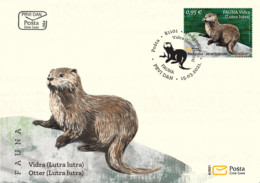 "2021 FDC, ""Fauna, Otter (Lutra Lutra)"", Montenegro, MNH - Montenegro"