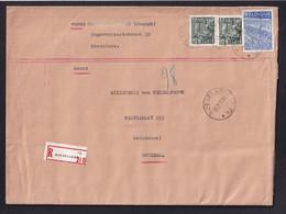 DDY 913 - AGENCES Cachets à Etoiles - Enveloppe Reco ROESELARE 12 En 1950 S/ TP Exportation - Herman Indice F - Sternenstempel