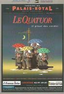 F32 / CARTE PUB Card Cart'com CPM Publicité THEATRE Artiste PALAIS ROYAL Le QUATUOR  Parapluie - Artistas