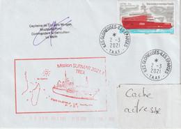 13756 Patrouilleur LE MALIN - îles GLORIEUSES - ÉPARSES - MISSION SURMAR 2021/1 - Le 2/3/2021 - Covers & Documents