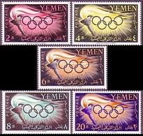 Yemen Arab Republic, 1960, Olympic Summer Games Rome, MNH, Michel 200-204A - Jemen