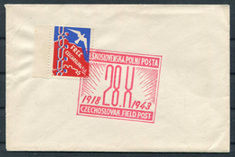 "1943 GB C.S.P.P. Czechoslovak Field Post / Ceskoslovenska Polni Posta Cover ""Free Czechoslovakia"" Propaganda  Vignette - Covers & Documents"